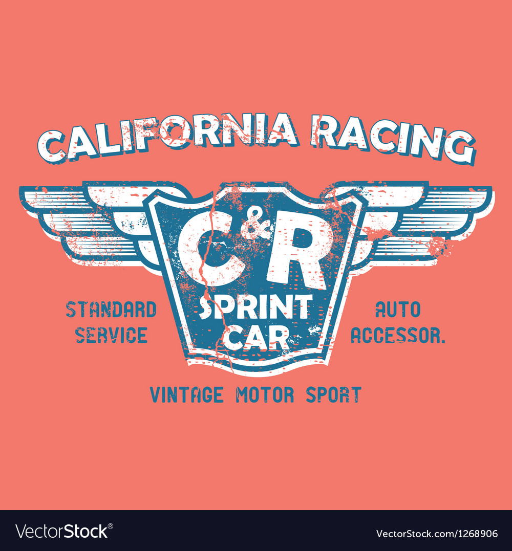 California racing vector