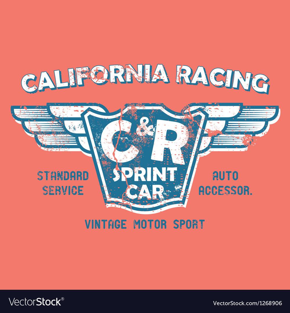 California racing vector