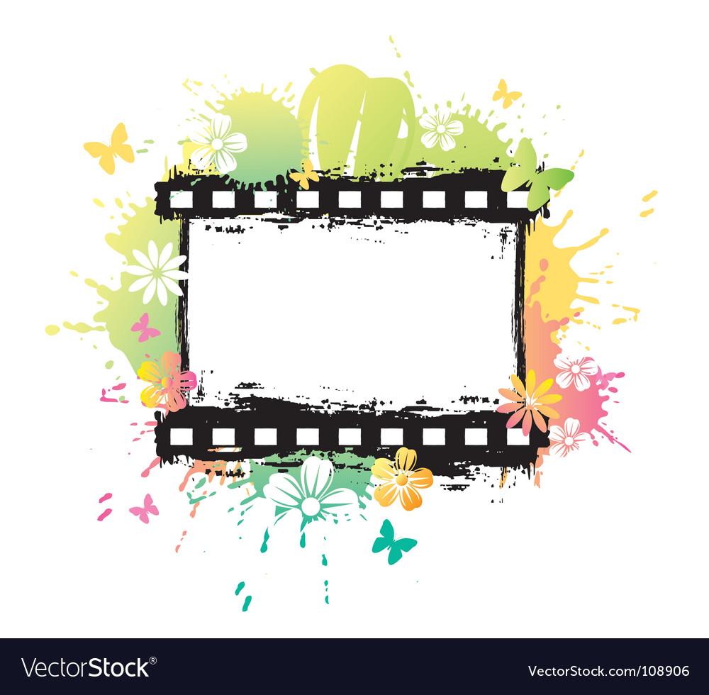 Flower film vector