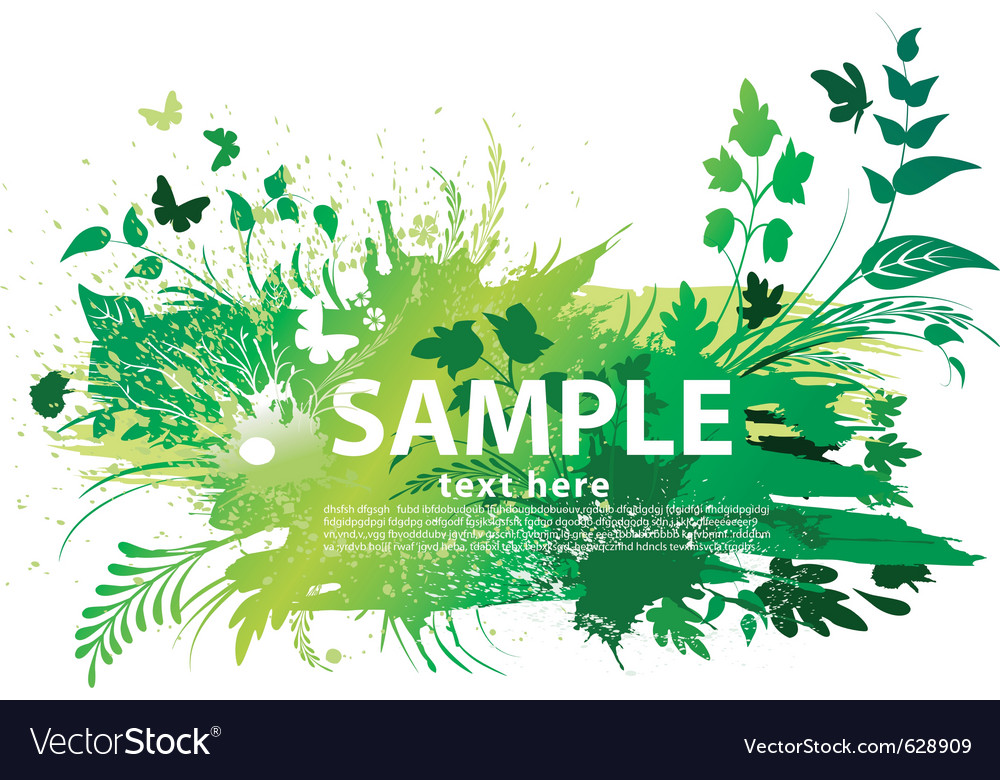 Grunge nature background vector