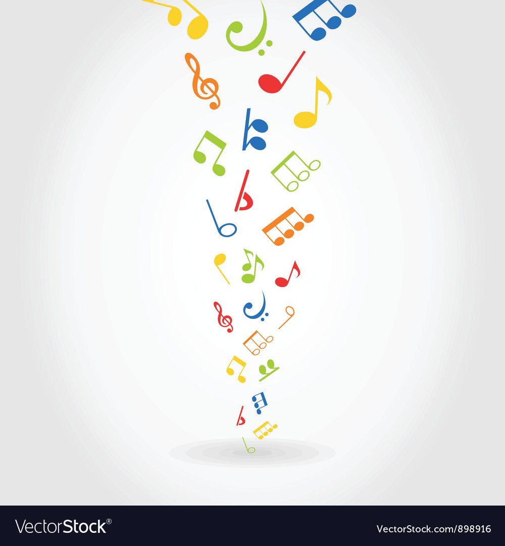 Abstract music vector
