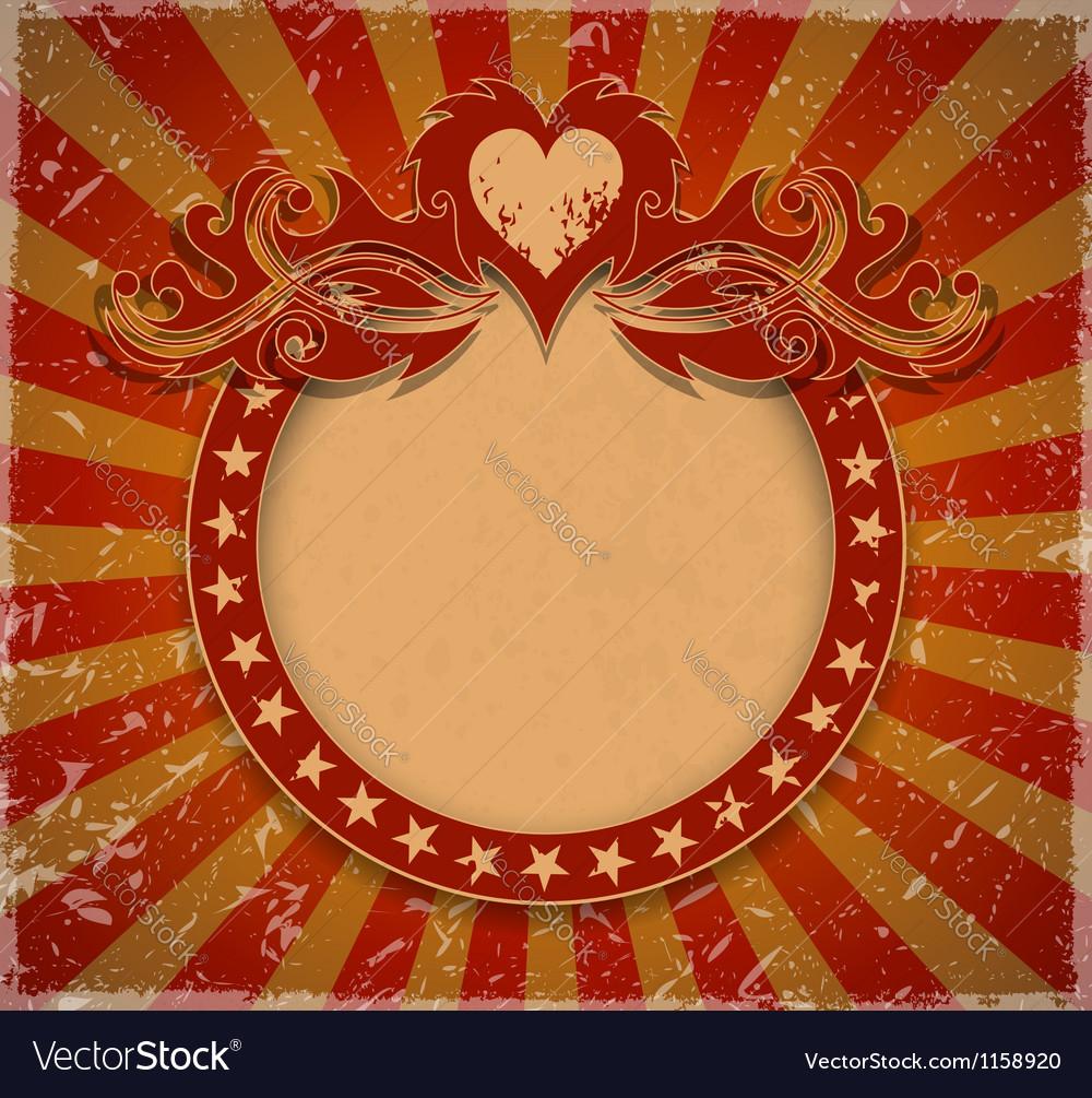 Romantic vintage background vector