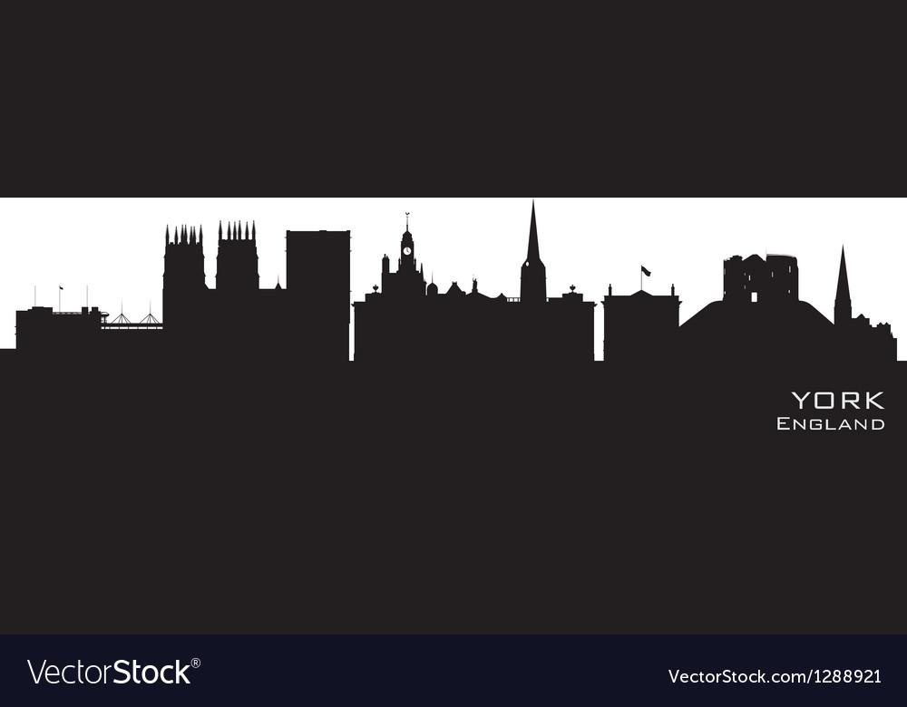 York england city skyline detailed silhouette vector