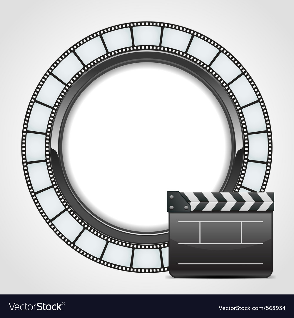 Film clap background vector