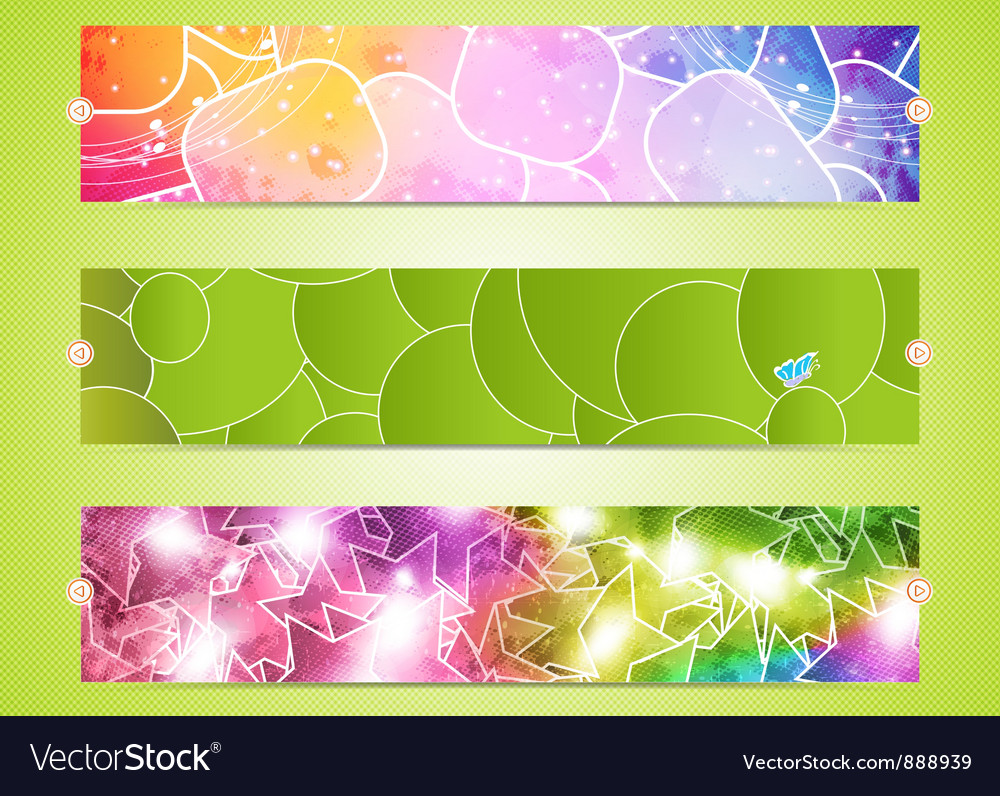 Set of three banners vector