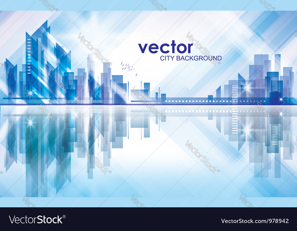Abstract modern city background vector