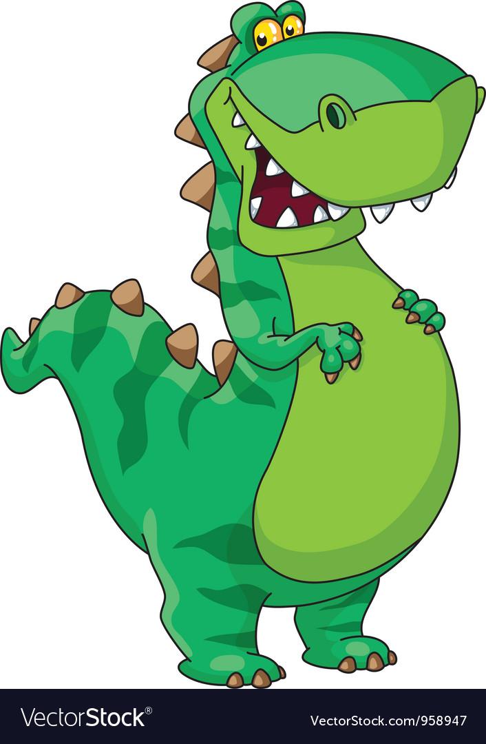 Happy dinosaur vector
