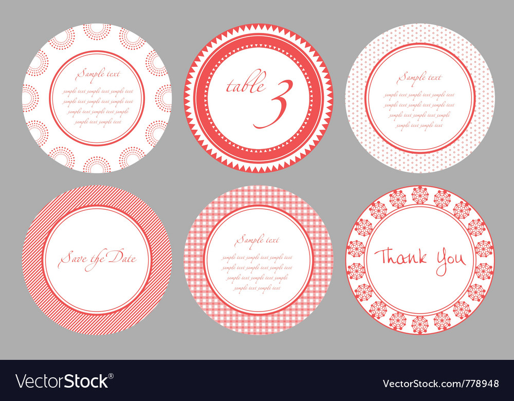 Invitation card template for wedding birthday anni vector