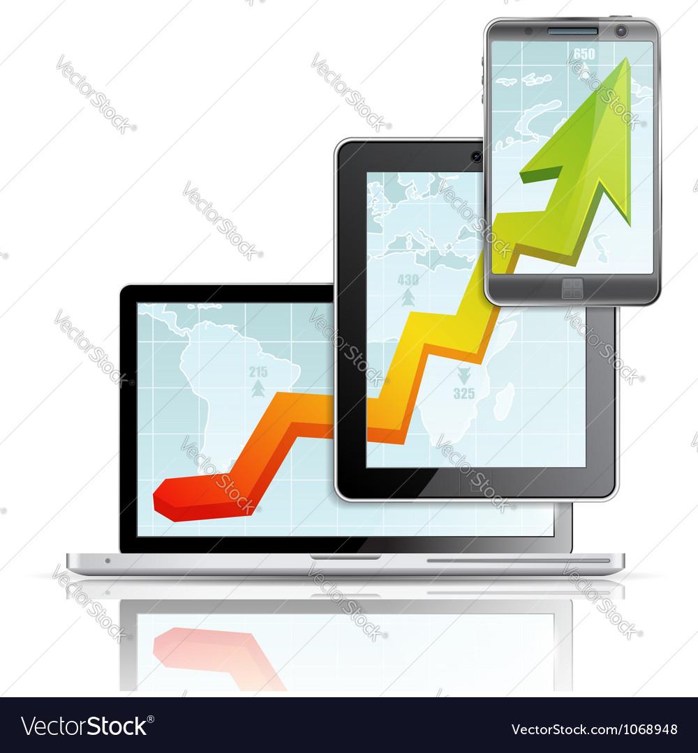 Modern business concept vector