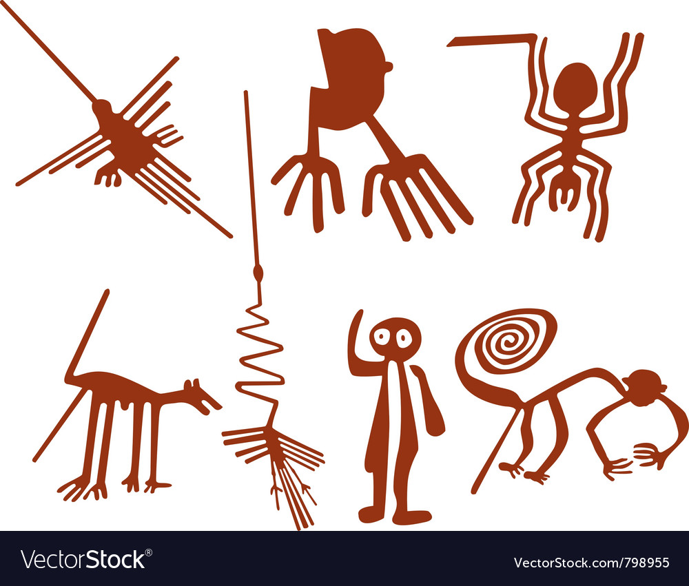 Nazca lines set vector