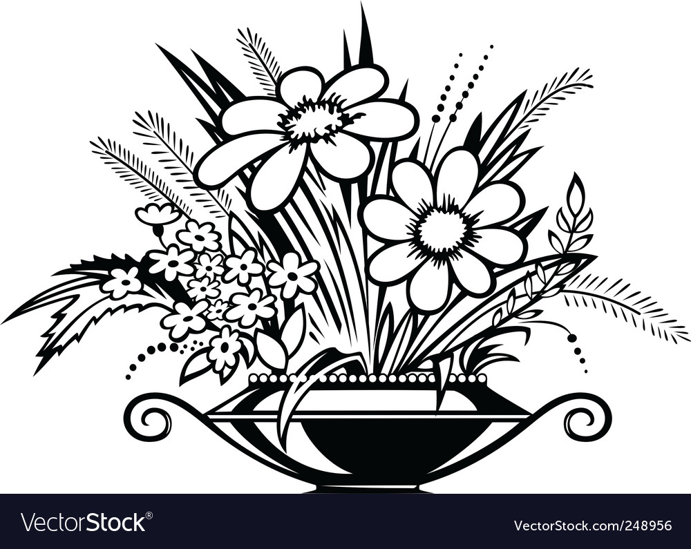 Images how to draw flowers in a vase how to draw flower vase source reviewsmspy