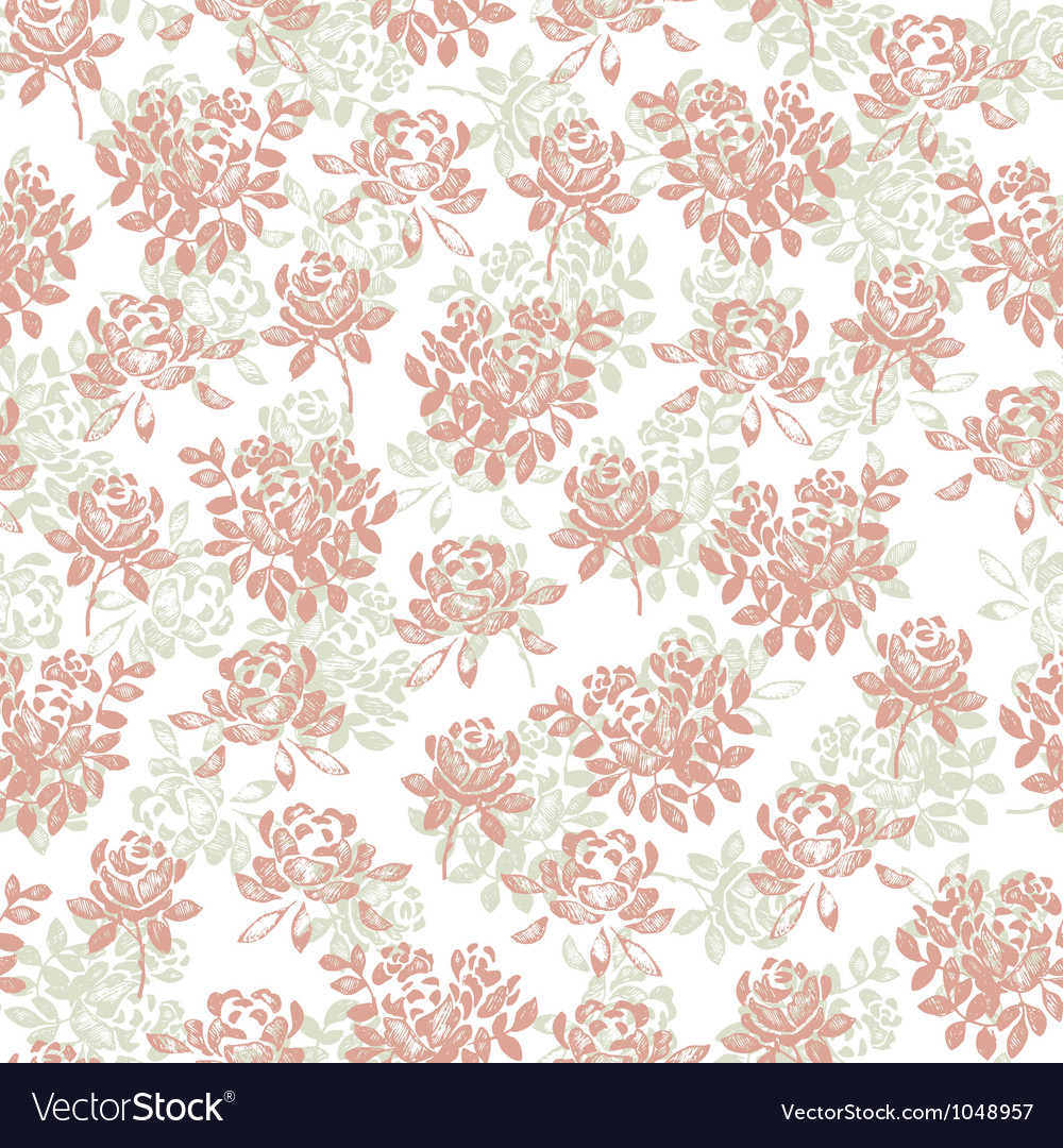 Flower pattern white vector
