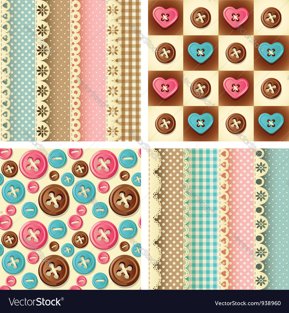 Craft seamless pattern vector