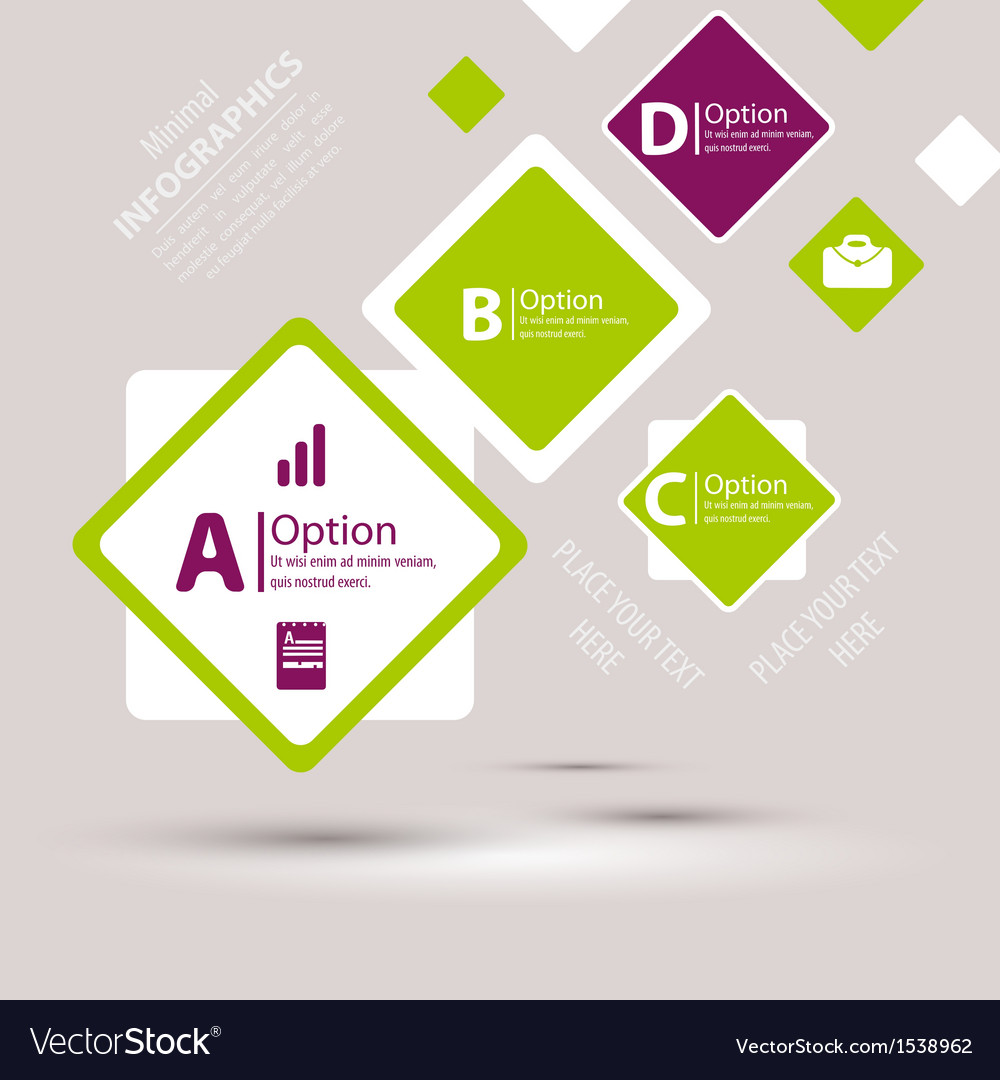 Modern design infographic template vector