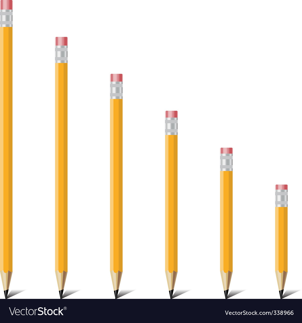 Ladder of pencil vector