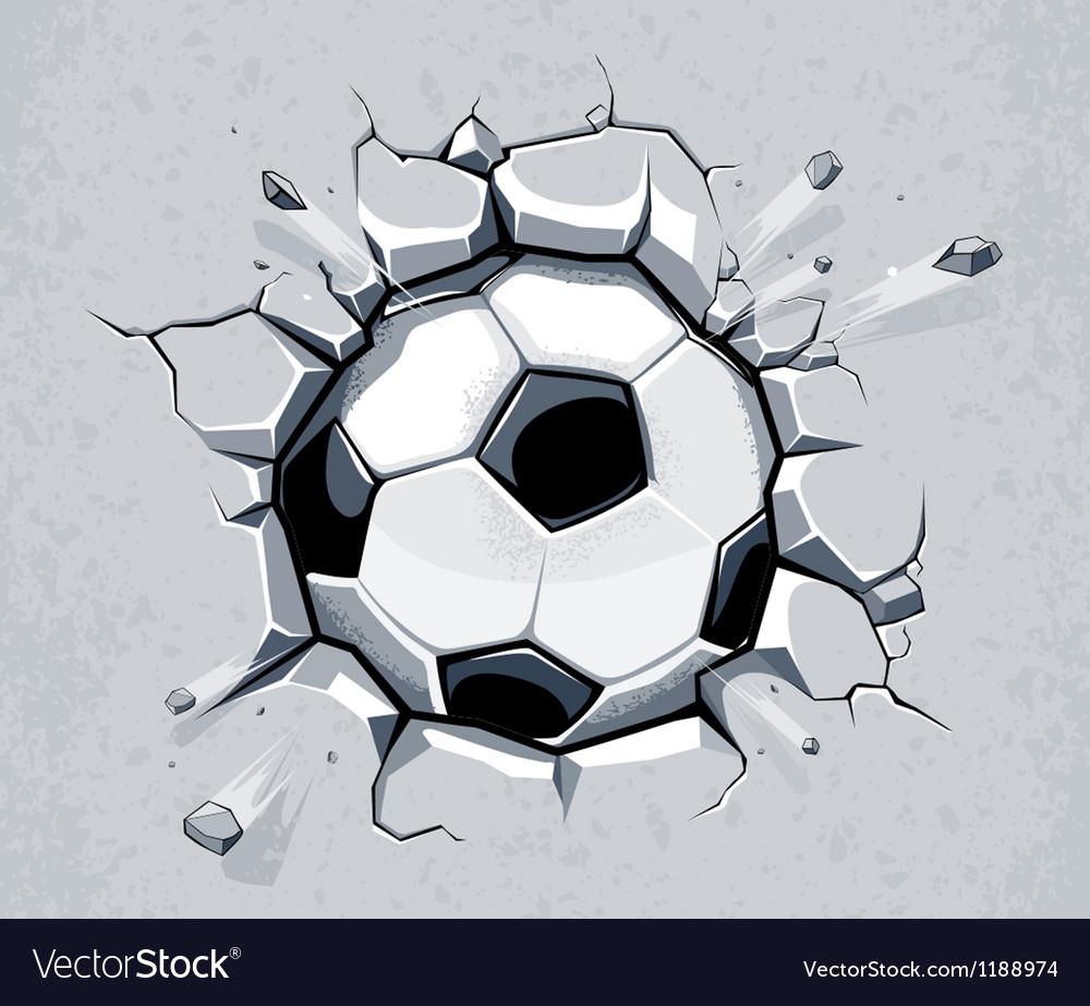 Ball breaking wall vector