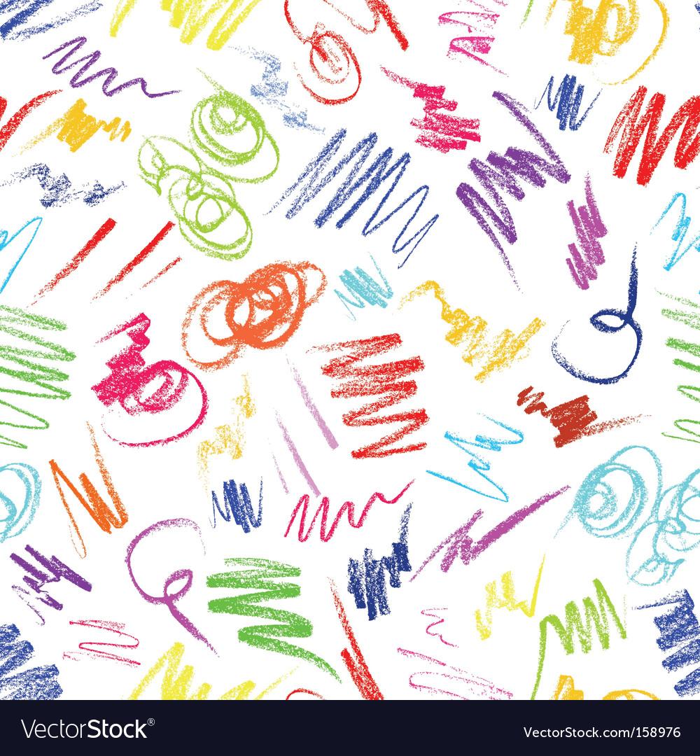 Crayon scribbles vector