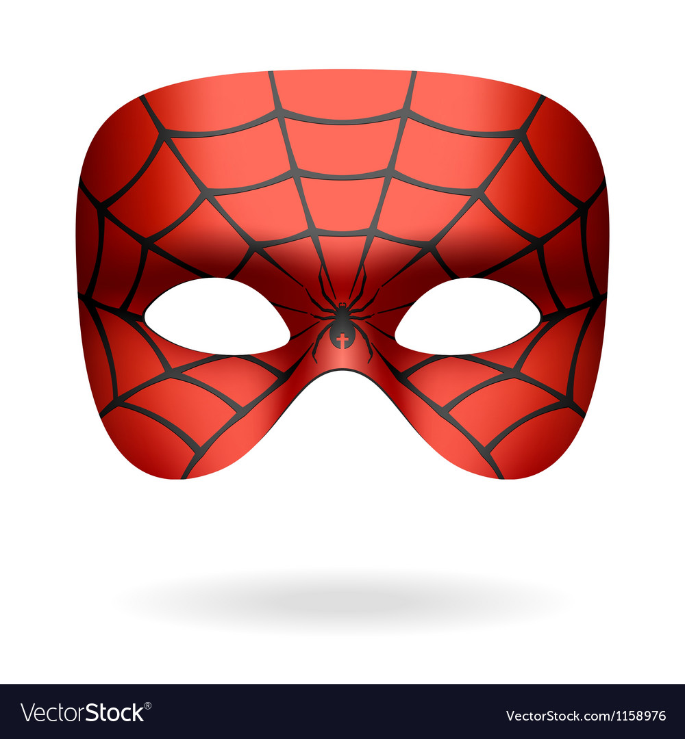 Spider mask vector