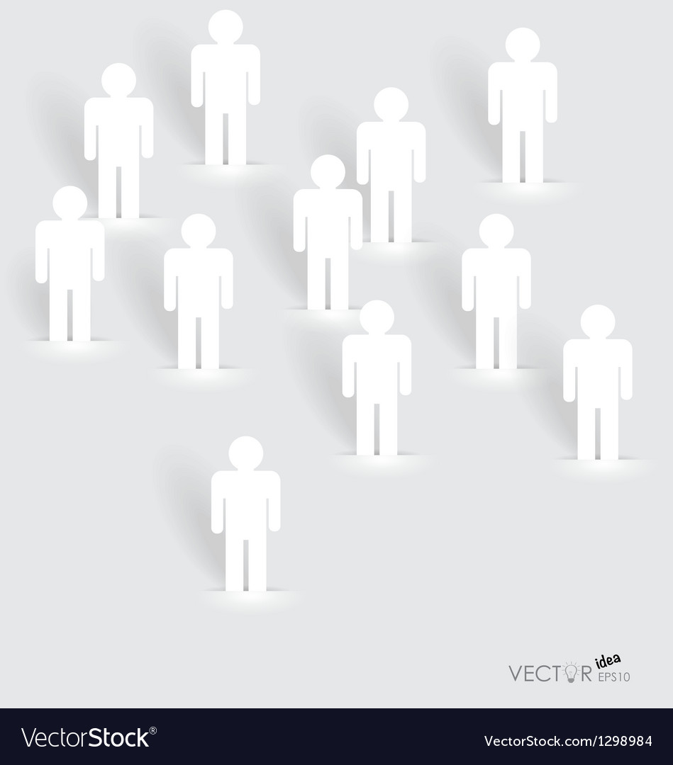 Social network concept people cut out of paper vector