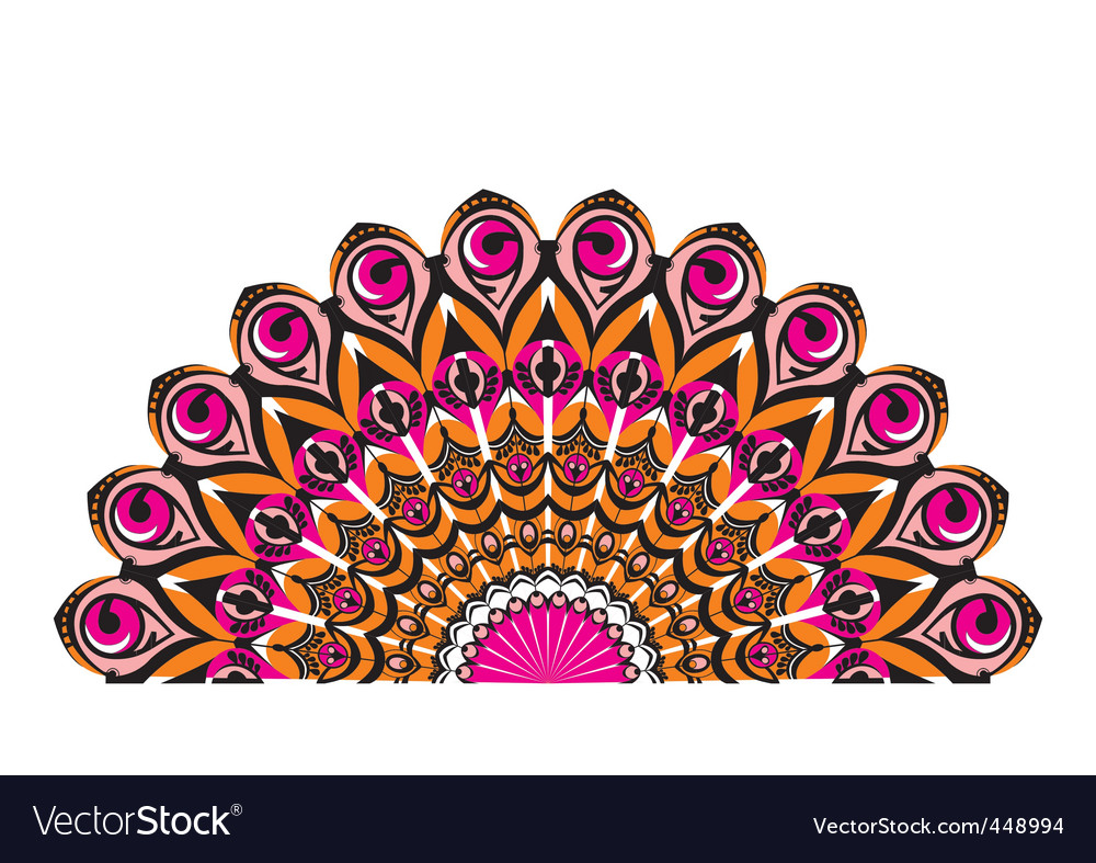 Peacocks tail vector
