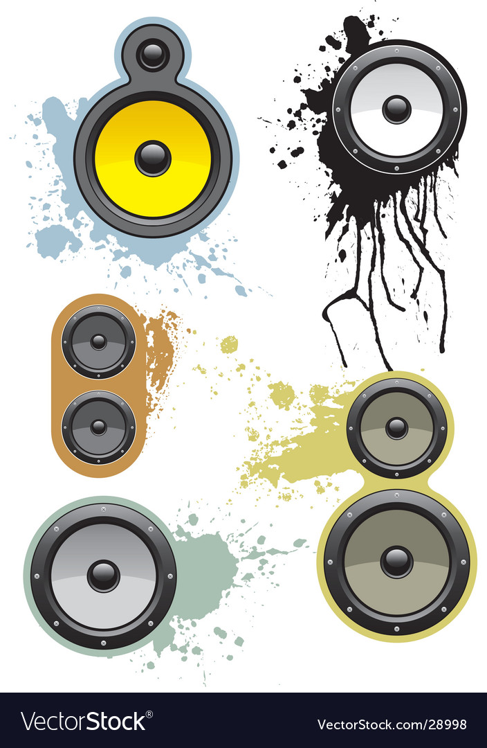 Grunge loudspeakers vector