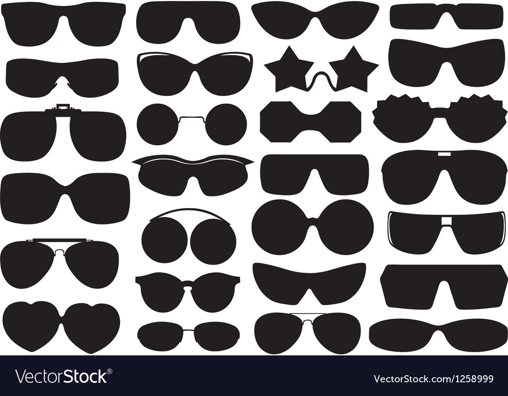 Different sunglasses vector
