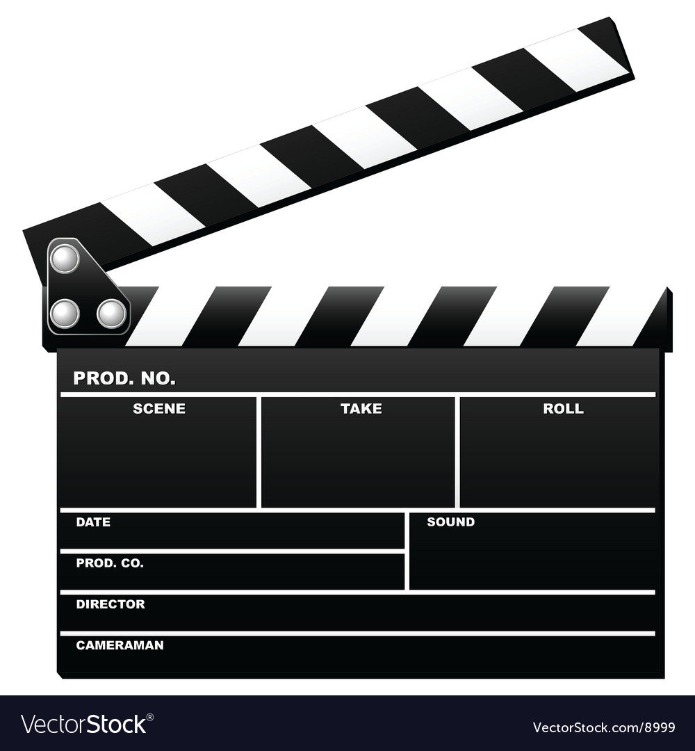 Opened clapboard vector