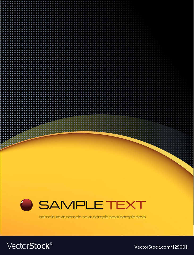Black and yellow background composition vector