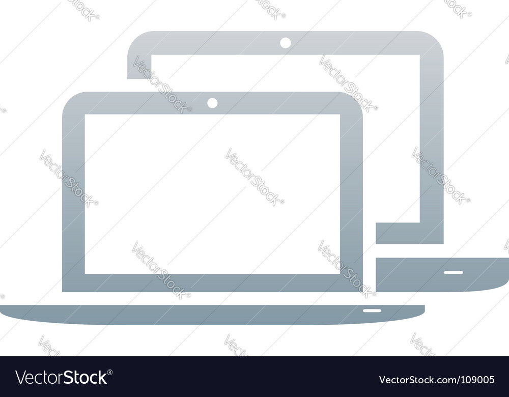 Laptops icon vector
