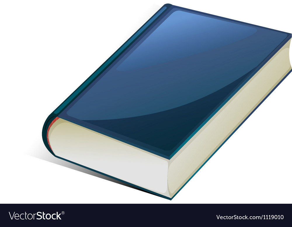 Blue book vector