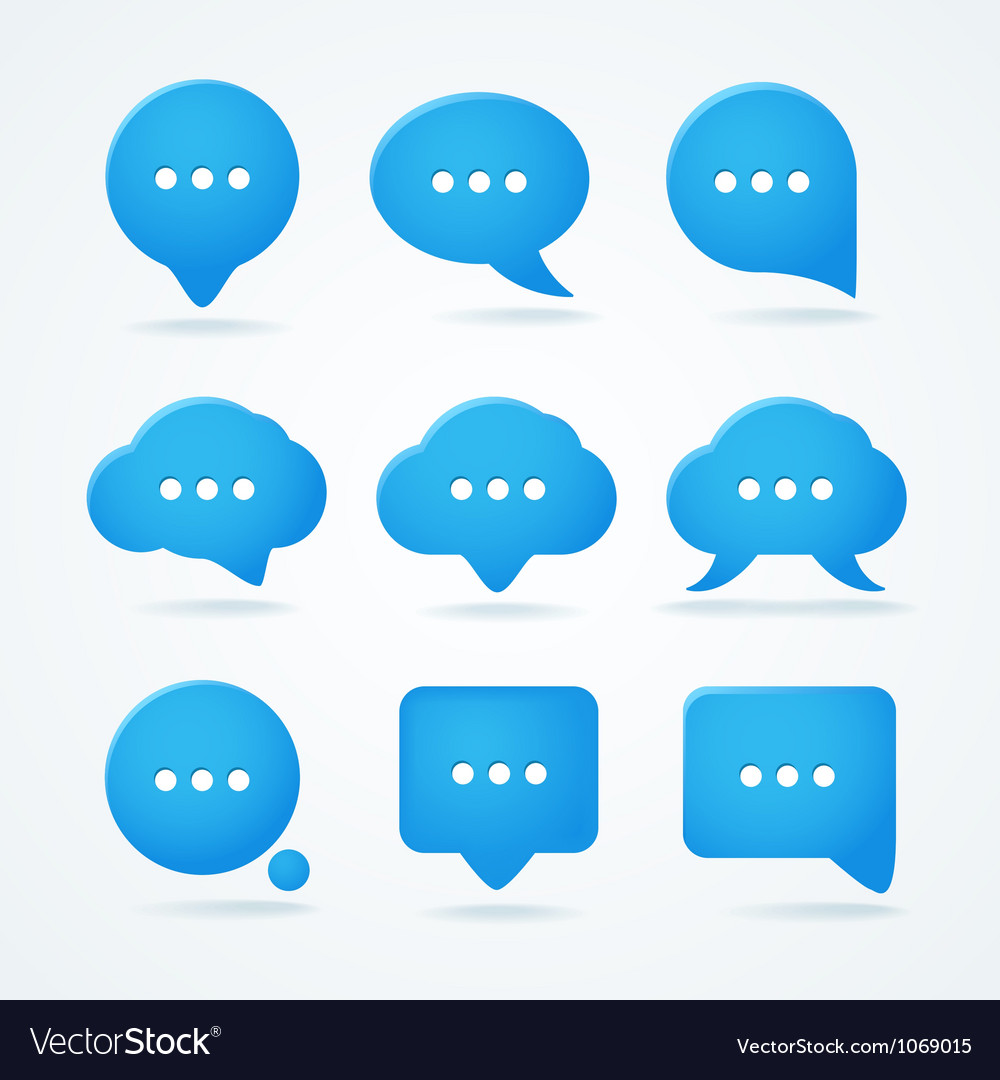 Speech clouds set vector