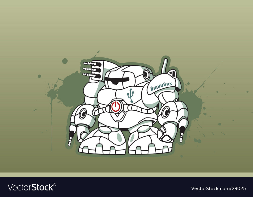 Boom box robot vector