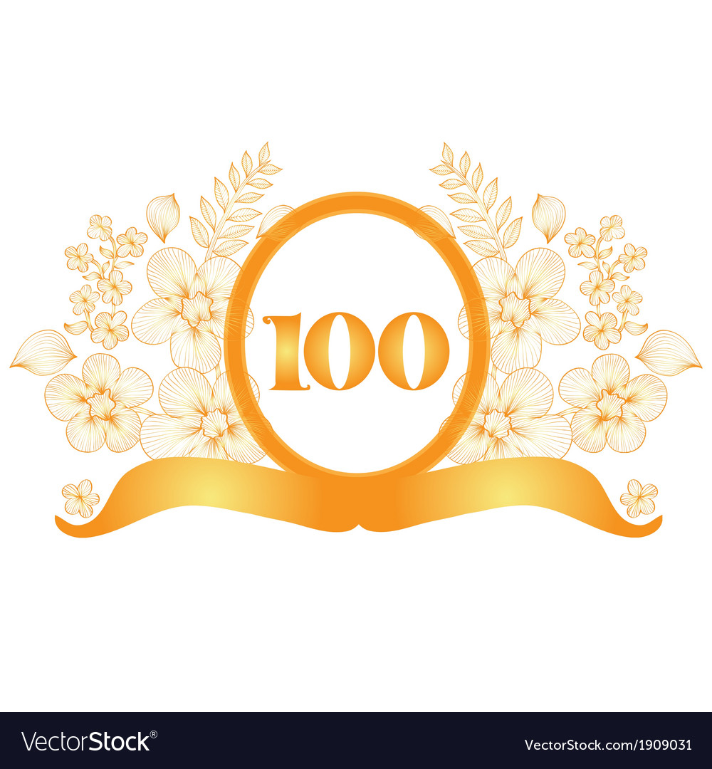 100th anniversary banner vector by Chantall - Image #1909031 ...