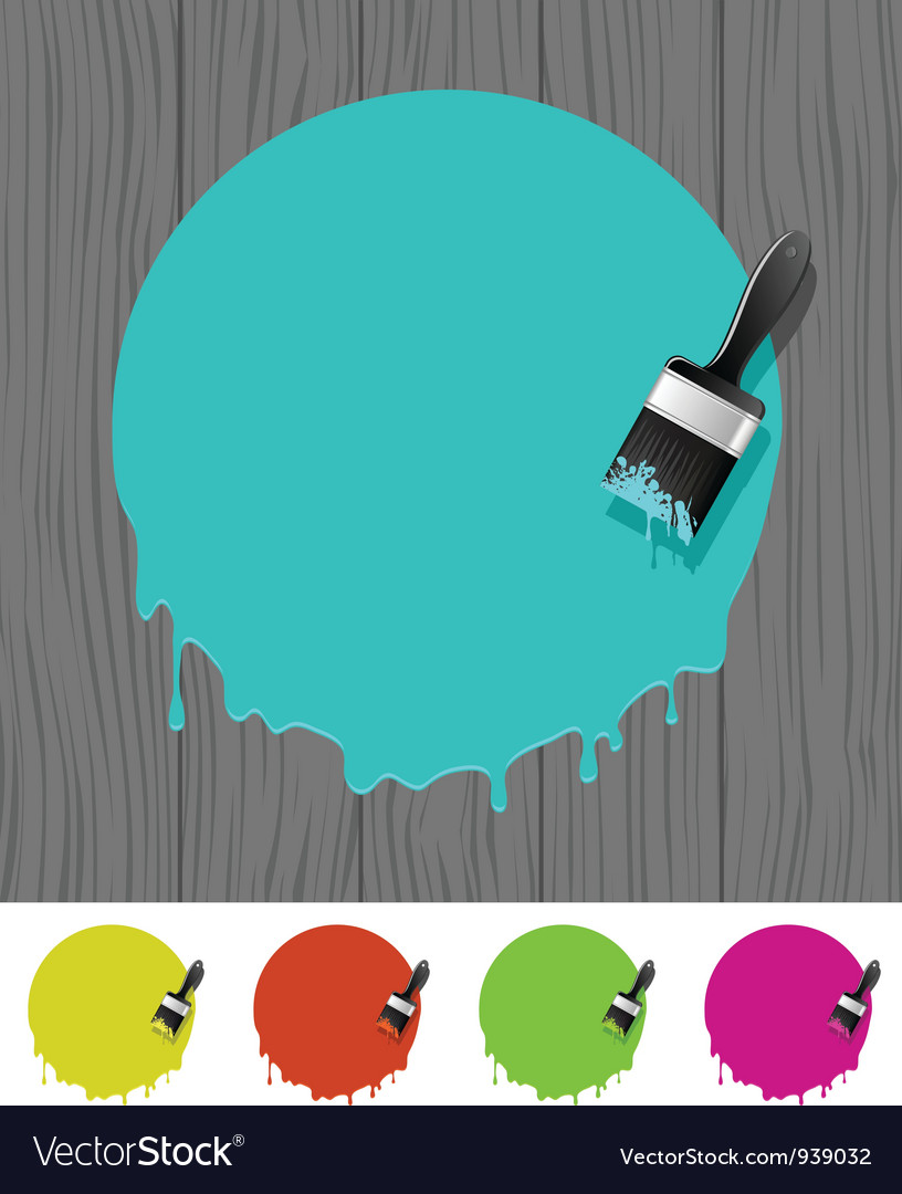 Background with paintbrush vector
