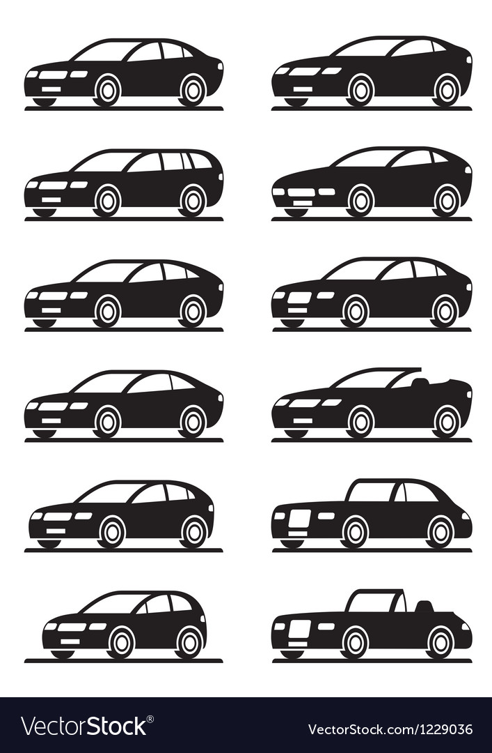 Different modern cars in angle vector