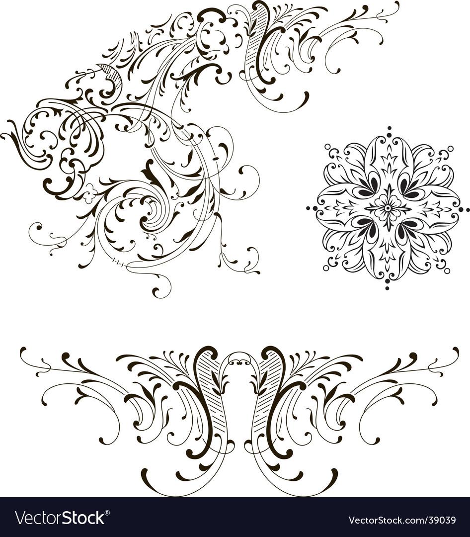 Design floral vector