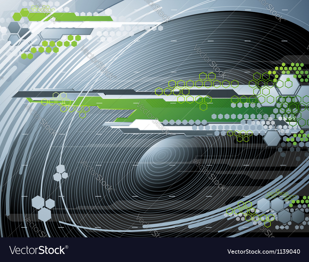 Abstract futuristic background with stereo speaker vector