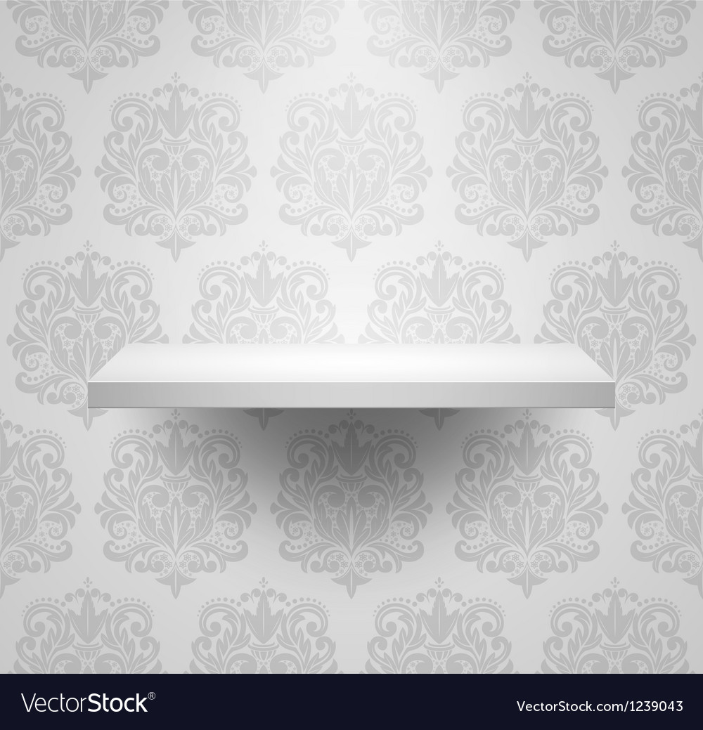 Empty isolated shelf vector