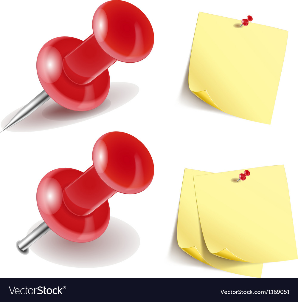 Pushpin icon vector