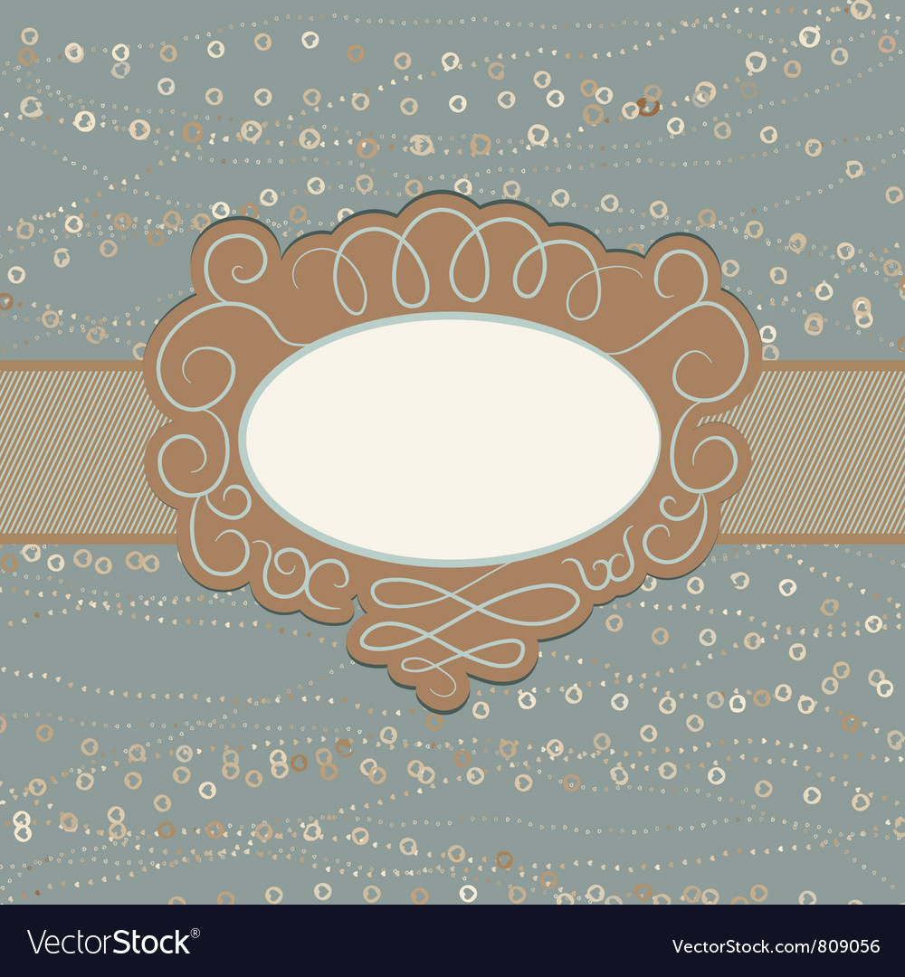Vintage copy space card vector