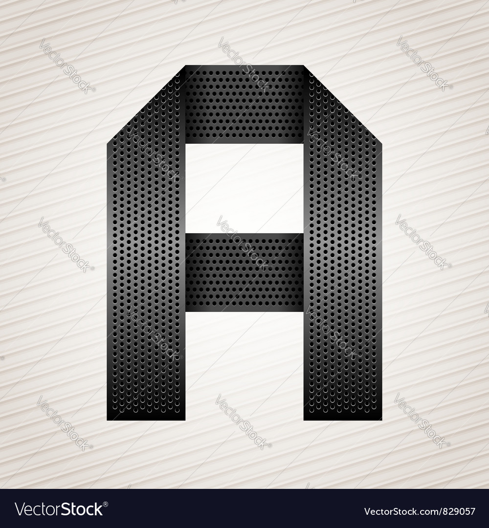 Letter metal ribbon - a vector