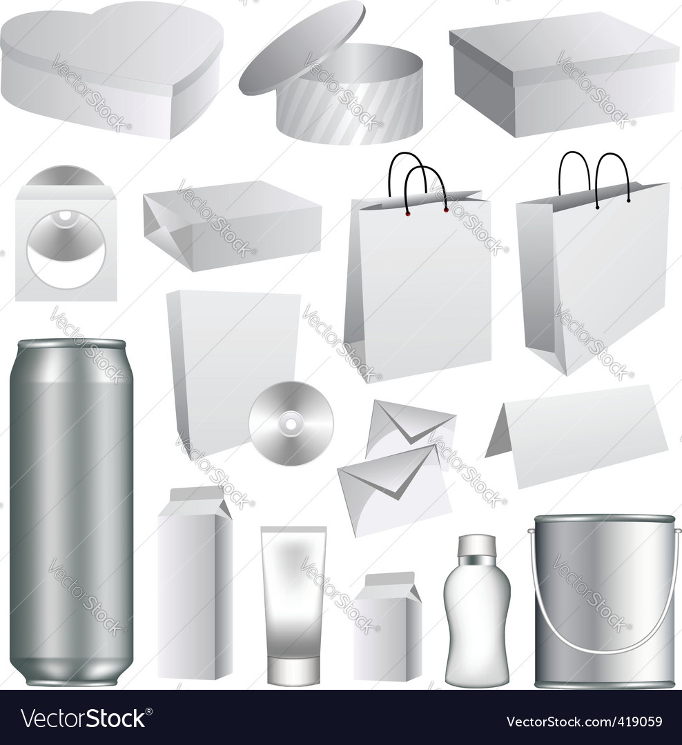 Packaging templates vector