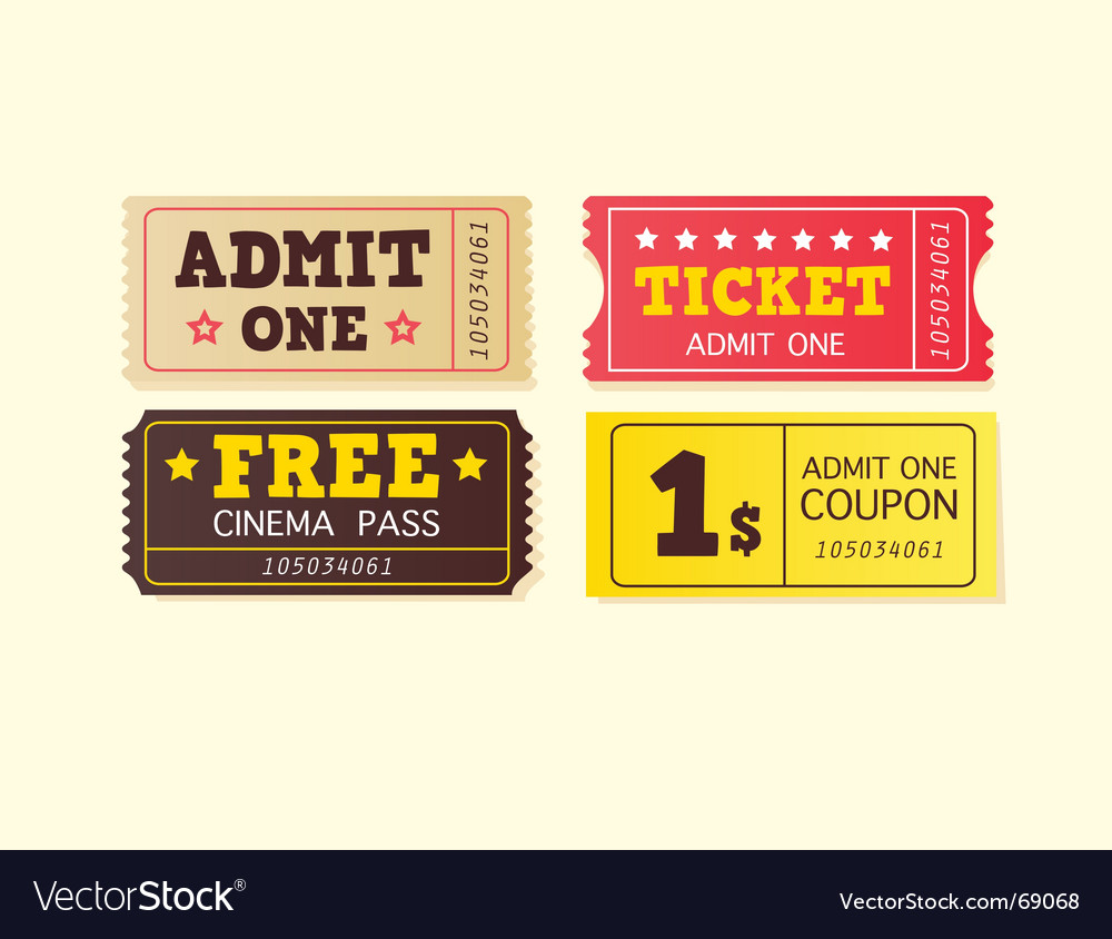 Vintage cinema tickets vector