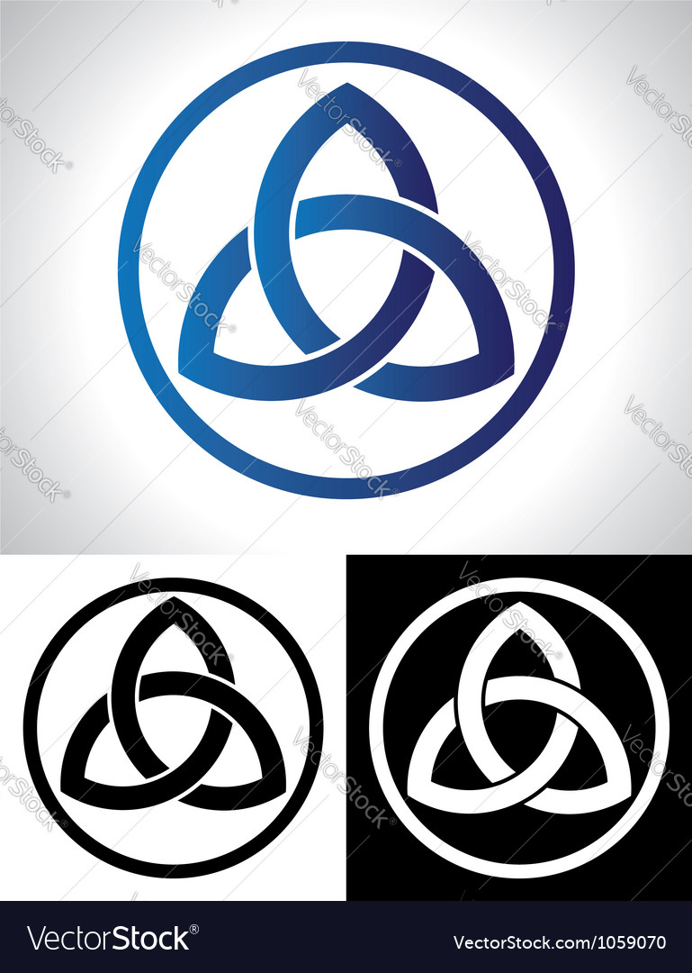 Celtic trinity knot vector