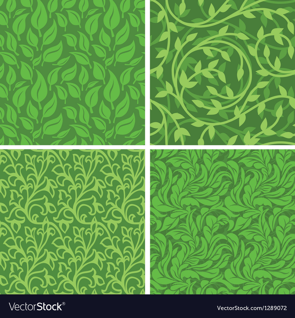 Seamless backgrounds with leaves vector