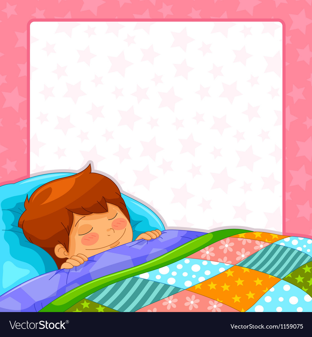 Sleeping boy vector