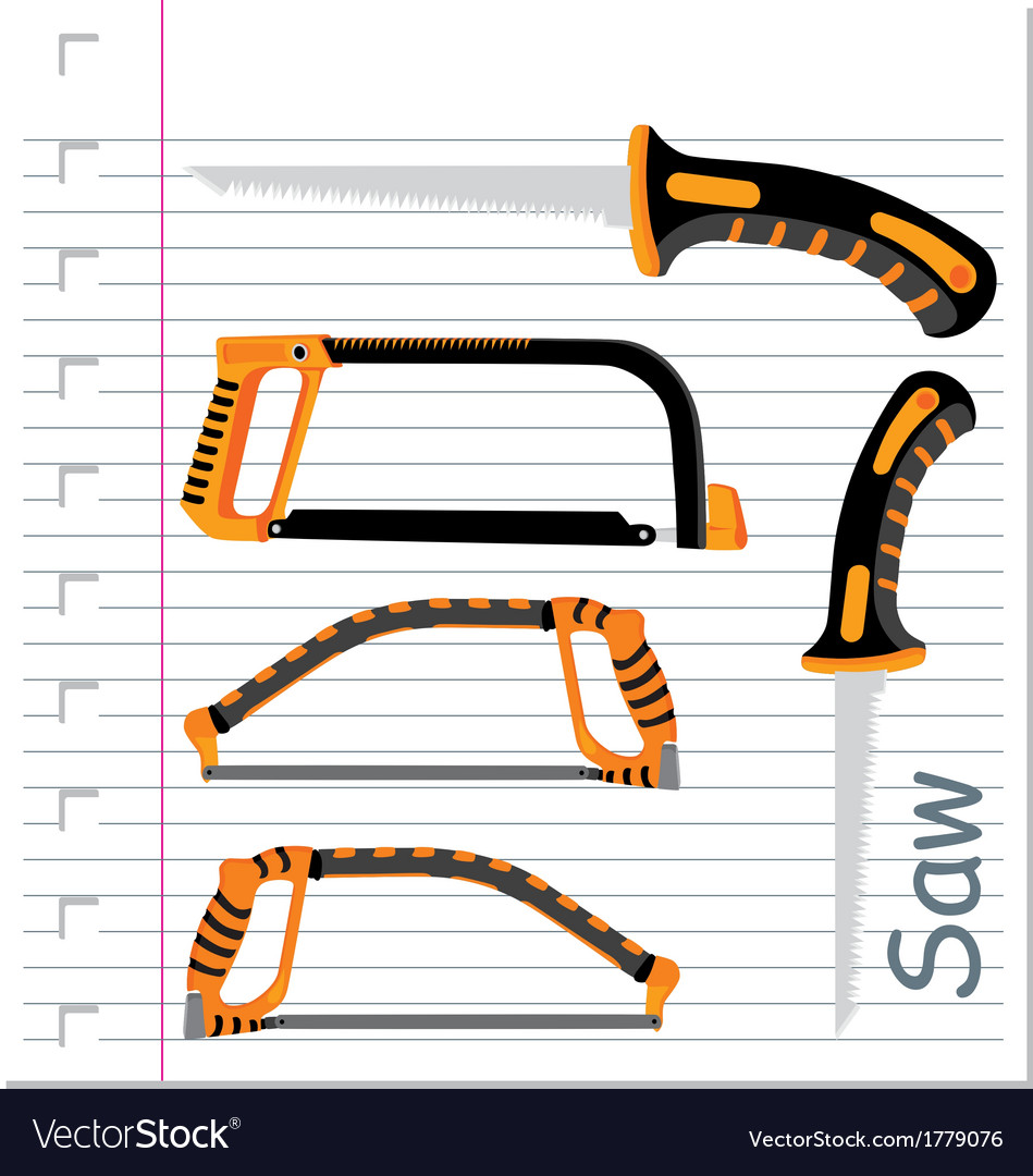 Garden hacksaw isolated vector