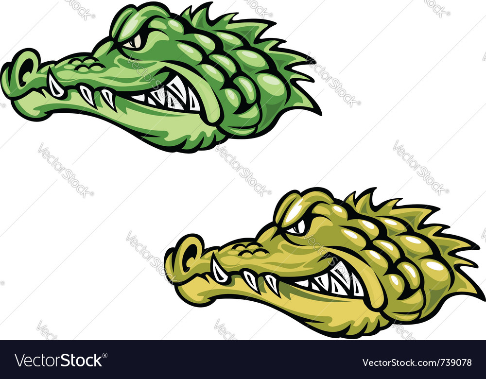 Alligator head for mascot vector