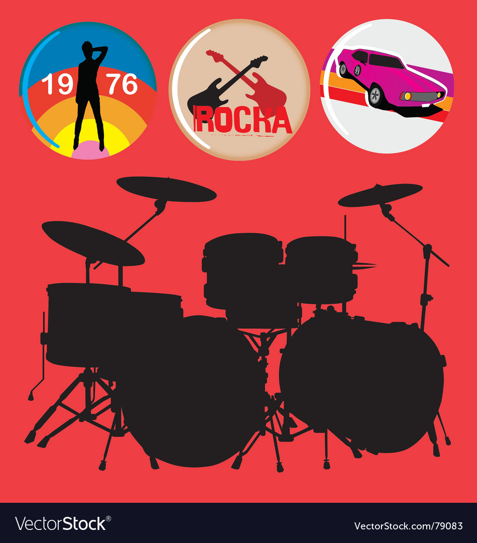 Free rock music vector