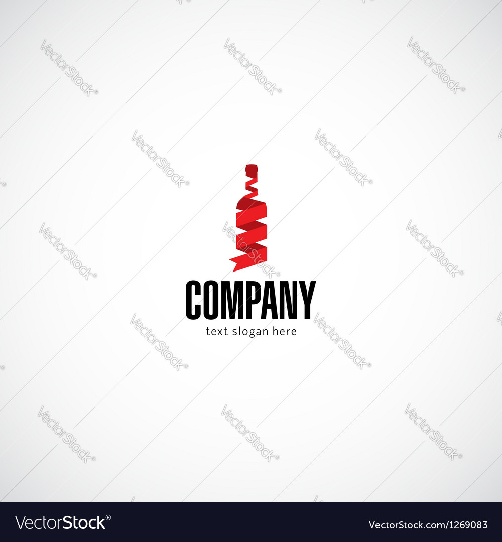 Wine bottle company logo vector